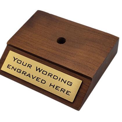 Sample on a wood base
